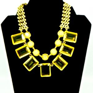 ANN TAYLOR~gold & bold~STATEMENT NECKLACE